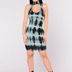 Fashion Nova NWT tie die dress